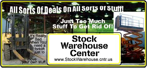 Welcome To The Stock Warehouse Center. You Will Find All Sorts Deals On All Sorts Of Stuff!