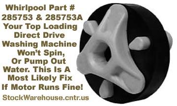 Stockwarehouse Cntr Us Whirlpool Washer Motor Coupling